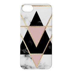 Triangles,gold,black,pink,marbles,collage,modern,trendy,cute,decorative, Apple Iphone 5s/ Se Hardshell Case