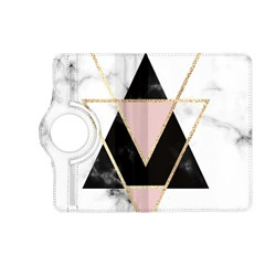 Triangles,gold,black,pink,marbles,collage,modern,trendy,cute,decorative, Kindle Fire Hd (2013) Flip 360 Case