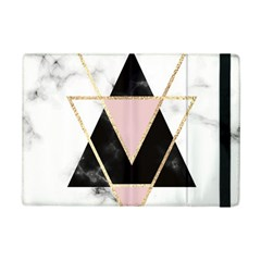 Triangles,gold,black,pink,marbles,collage,modern,trendy,cute,decorative, Ipad Mini 2 Flip Cases