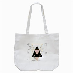 Triangles,gold,black,pink,marbles,collage,modern,trendy,cute,decorative, Tote Bag (white)