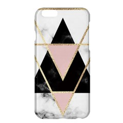 Triangles,gold,black,pink,marbles,collage,modern,trendy,cute,decorative, Apple Iphone 6 Plus/6s Plus Hardshell Case