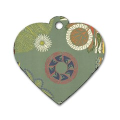 Artnouveau18 Dog Tag Heart (one Side)