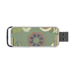 Artnouveau18 Portable Usb Flash (one Side)