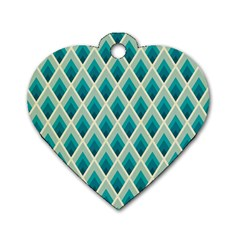 Artdecoteal Dog Tag Heart (one Side)