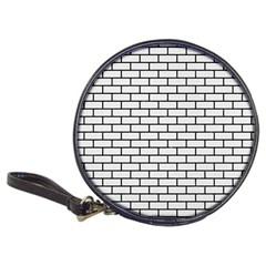 Brick1 Black Marble & White Linen Classic 20 Cd Wallets