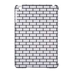 Brick1 Black Marble & White Linen Apple Ipad Mini Hardshell Case (compatible With Smart Cover)