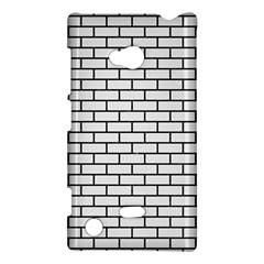 Brick1 Black Marble & White Linen Nokia Lumia 720