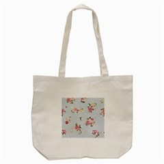 Floral Blue Tote Bag (cream)