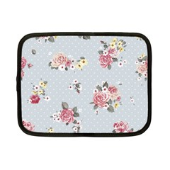 Floral Blue Netbook Case (small)