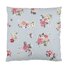 Floral Blue Standard Cushion Case (two Sides)