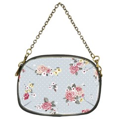 Floral Blue Chain Purses (two Sides)