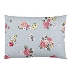 Floral Blue Pillow Case