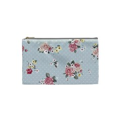 Floral Blue Cosmetic Bag (small)