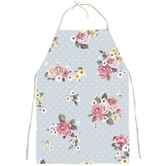 Floral Blue Full Print Aprons