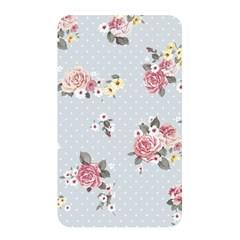 Floral Blue Memory Card Reader