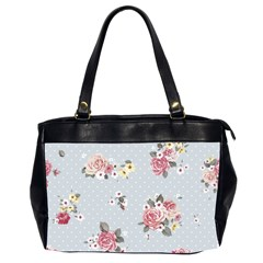 Floral Blue Office Handbags (2 Sides)