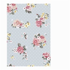 Floral Blue Small Garden Flag (two Sides)