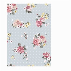 Floral Blue Large Garden Flag (two Sides)