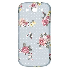 Floral Blue Samsung Galaxy S3 S Iii Classic Hardshell Back Case