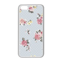 Floral Blue Apple Iphone 5c Seamless Case (white)