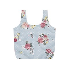 Floral Blue Full Print Recycle Bags (s)
