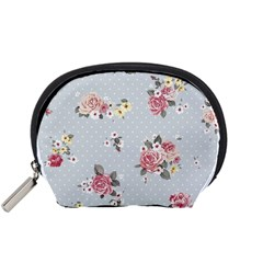 Floral Blue Accessory Pouches (small)