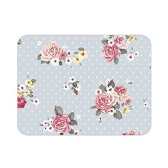 Floral Blue Double Sided Flano Blanket (mini)