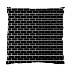 Brick1 Black Marble & White Linen (r) Standard Cushion Case (two Sides)