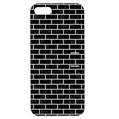 Brick1 Black Marble & White Linen (r) Apple Iphone 5 Hardshell Case With Stand