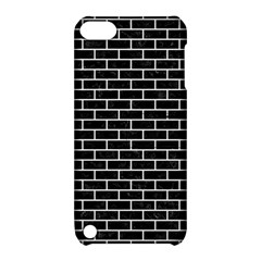 Brick1 Black Marble & White Linen (r) Apple Ipod Touch 5 Hardshell Case With Stand