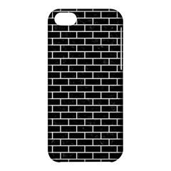 Brick1 Black Marble & White Linen (r) Apple Iphone 5c Hardshell Case