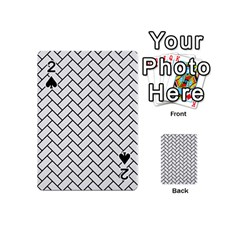 Brick2 Black Marble & White Linen Playing Cards 54 (mini)