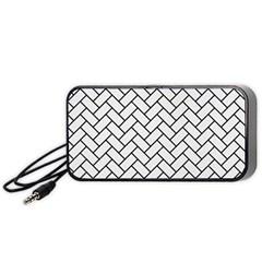 Brick2 Black Marble & White Linen Portable Speaker