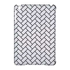 Brick2 Black Marble & White Linen Apple Ipad Mini Hardshell Case (compatible With Smart Cover)
