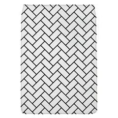 Brick2 Black Marble & White Linen Flap Covers (s)