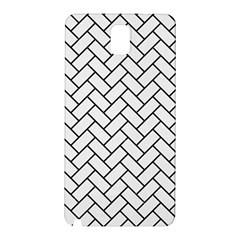 Brick2 Black Marble & White Linen Samsung Galaxy Note 3 N9005 Hardshell Back Case