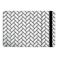 Brick2 Black Marble & White Linen Samsung Galaxy Tab Pro 10 1  Flip Case