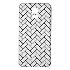 Brick2 Black Marble & White Linen Samsung Galaxy S5 Back Case (white)