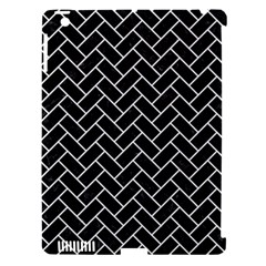 Brick2 Black Marble & White Linen (r) Apple Ipad 3/4 Hardshell Case (compatible With Smart Cover)