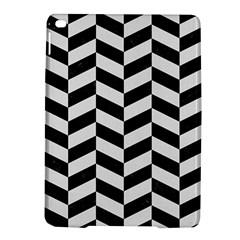 Chevron1 Black Marble & White Linen Ipad Air 2 Hardshell Cases