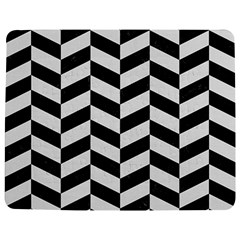 Chevron1 Black Marble & White Linen Jigsaw Puzzle Photo Stand (rectangular)