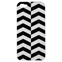 Chevron2 Black Marble & White Linen Apple Iphone 5 Hardshell Case