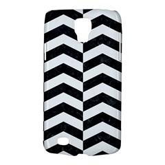 Chevron2 Black Marble & White Linen Galaxy S4 Active