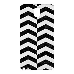 Chevron2 Black Marble & White Linen Samsung Galaxy Note 3 N9005 Hardshell Back Case