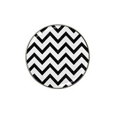 Chevron9 Black Marble & White Linen Hat Clip Ball Marker (10 Pack)