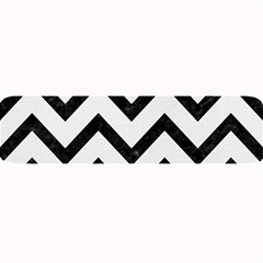 Chevron9 Black Marble & White Linen Large Bar Mats