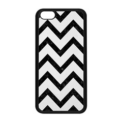 Chevron9 Black Marble & White Linen Apple Iphone 5c Seamless Case (black)