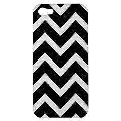 Chevron9 Black Marble & White Linen (r) Apple Iphone 5 Hardshell Case