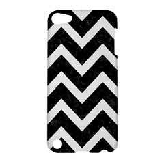 Chevron9 Black Marble & White Linen (r) Apple Ipod Touch 5 Hardshell Case