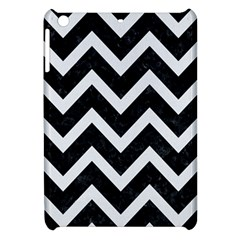Chevron9 Black Marble & White Linen (r) Apple Ipad Mini Hardshell Case